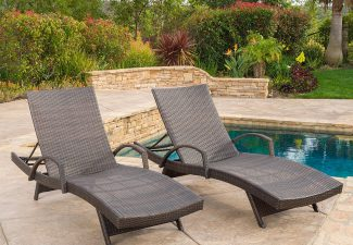 (Set of 2) Olivia Outdoor Brown Wicker Armed Chaise Lounge Chair Review 2018