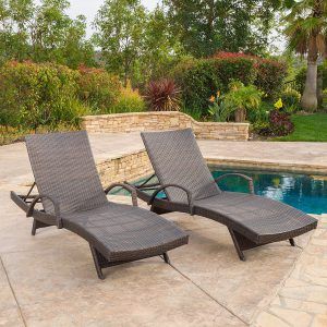 Olivia Outdoor Brown Wicker Armed Chaise Lounge Chair.jpg